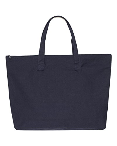LB Amanda Canvas Tote (NAVY) (OS) Amanda Bag