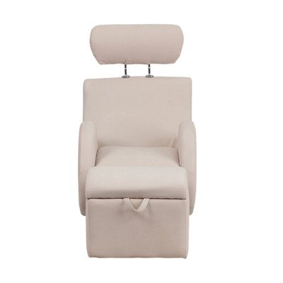 Hercules Series Kids Recliner Chair and Ottoman Color: Beige