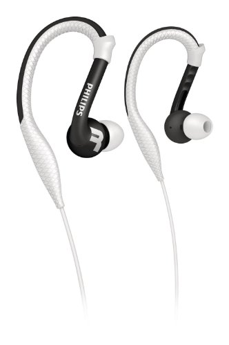 Philips SHQ3200WT/28 Action Fit Sports Ear Hook Headphones, White