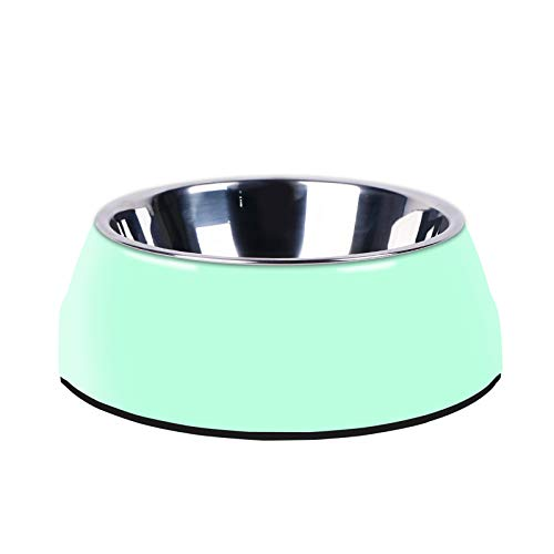 Manda Ocean Pet Bowls Stainless Steel Dog Cat Pet Bowl Universal Pet Water and Food Bowls 4 Sizes and 5 Colors Available (M, - Bowl Colored Dog Green