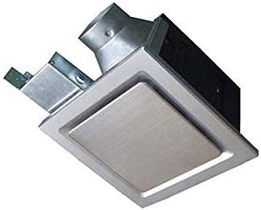 Silver with Stainless Steel Trim Aero Pure Inc Energy Star Qualified Aero Pure SBF 110 G6 S 110-CFM Super Quiet Bathroom Ventilation Fan