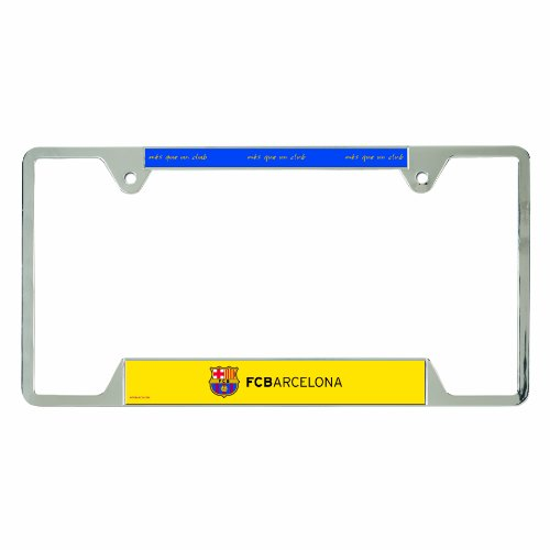 WinCraft Int'l Soccer Barcelona Football Club Metal License Plate Frame (Club Barcelona Football)