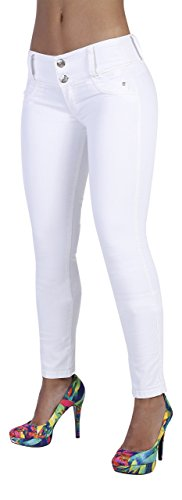 Curvify 764 Women's Butt-Lifting Skinny Jeans | High-Rise Waist, Brazilian Style White 11