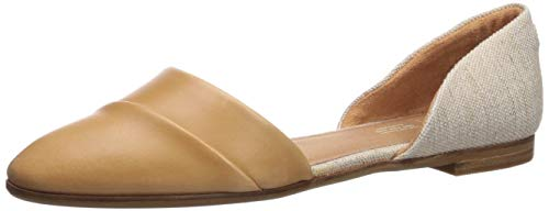 TOMS Jutti D'Orsay Women's Sandal (8.5 B(M) US, Honey Leather/Rose Gold Metallic Woven)