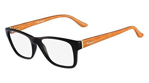 Salvatore Ferragamo Eyeglasses SF2687 012 Size:52 Black/Burnt Wood - Premium Outlets Lv
