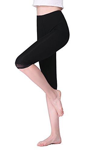 Vinconie Women Thin Training Gym Leggings Fitness Running Tights Slim Underwear (Trim Petite Lace)