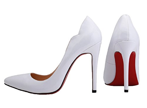 Semelle Pumps Bonbons Blanc HooH Couleur Rouge Femmes Mariage YFnqgI