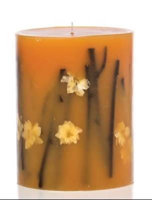 Rosy Rings Honey Tobacco Large 9 Inch 300 Hour Pillar Botanical Scented Candle