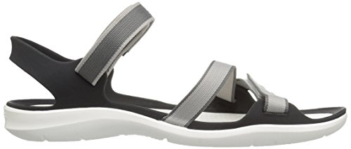 Crocs Frauen Swiftwater Gurtband Sandale Perlweiss