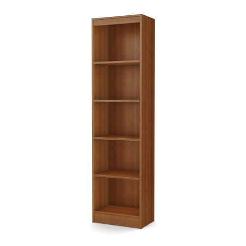 South Shore Axess Collection 5-Shelf Narrow Bookcase, Morgan Cherry