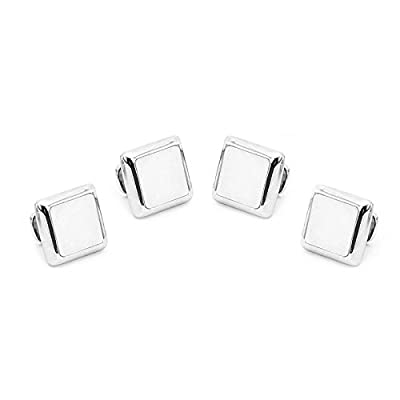 Ravi Ratan Mens Silver and MOP JFK Presidential Studs