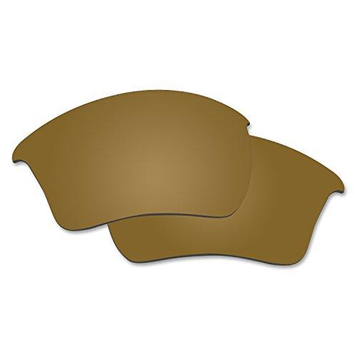 - Fiskr Anti-saltwater Polarized Replacement Lenses for Oakley Half Jacket 2.0 XL Sunglasses (Bronze Gold - Anti4s Mirror Polarized, 0)