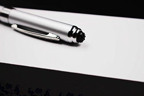 2 in 1 Vibration & massage ballpoint pen - mini Massage Tip Pen with Gift Box - Multifunction Electronic Pen (Silver) by JASON YUEN (Image #4)