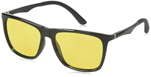 Night Vision Glasses for Driving - Feirdio HD night driving glasses anti glare polarized mens women glasses (yellow-Square) ... (yellow)