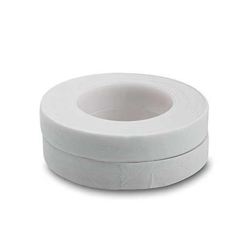 Topenca Supplies Floral Tape White, 1/2 Inch Wide x 30 Yards, 2 Pack, Ideal for Bouquet Stem Wrap Floral Arranging and Craft Projects