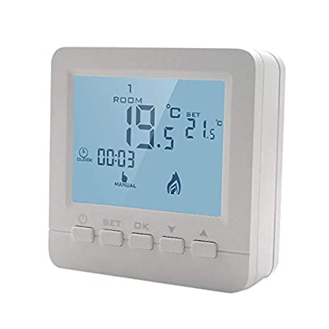 Boiler Thermostat Wiring Diagram, Room Thermostat Lcd Gas Boiler Heating Temperature Controller Digital Weekly Programmable Thermostat Wall Mounted, Boiler Thermostat Wiring Diagram