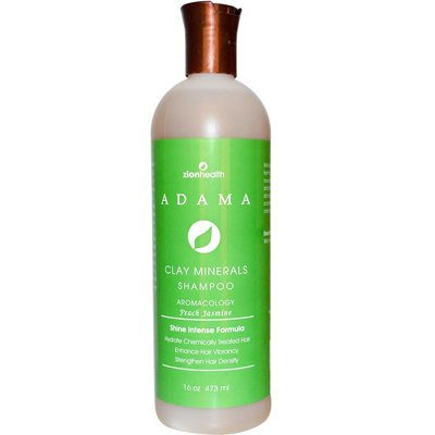Price comparison product image Zion Health Adama Clay Minerals Shampoo Peach Jasmine - 16 fl oz