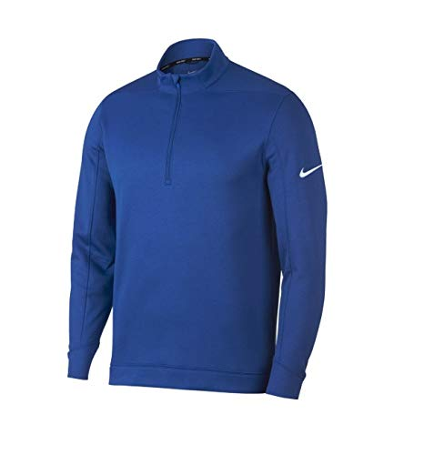 NIKE Therma Repel Top Half Zip OLC Golf Pullover 2018 Game Royal/White Large