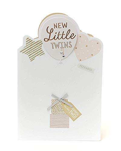 Congratulations Twins - Congratulations Birth of Twins Card - New Little Twins