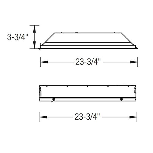 Oracle 2' x 2' - 2 Lamps 32W T8 U-Lamps Fluorescent Troffer 22-OT-2-32-U6-T8-A12 (Lamps Not Included)
