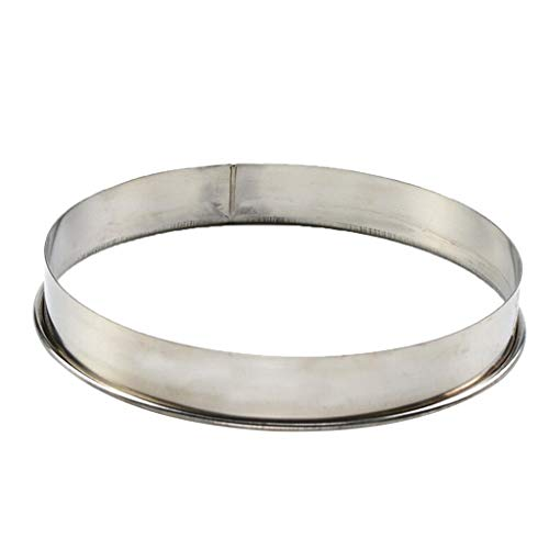 B Blesiya Metal Rings Molds Stainless Steel Cake Molds for Pizza Baking Mousse Cake Dessert and Cooking Rings Biscuit Cutter Round Shape - 10inch by B Blesiya
