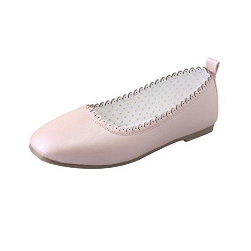 OverDose Frauen Weiches Freizeit-Flache Weibliche beiläufige Schuhe Tanzschuhe Erbsen Schuhe Dance Shoes Peas Shoes Rosa