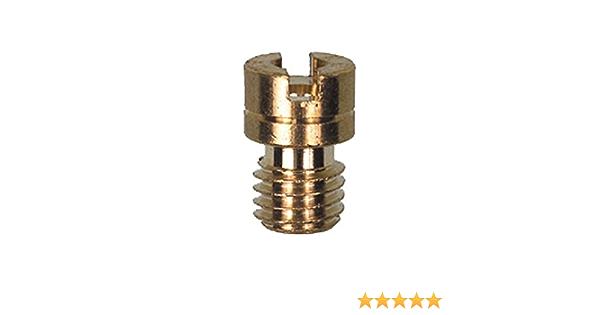 GENUINE MIKUNI N102.221 MAIN JET Size 97.5 Small Round Brass Slotted Head