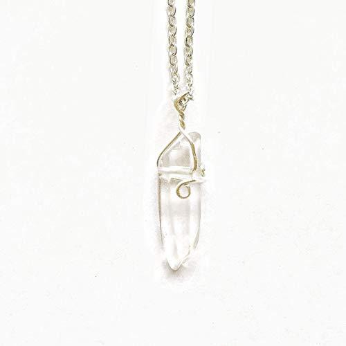 - Raw Clear Quartz Crystal Point - 16