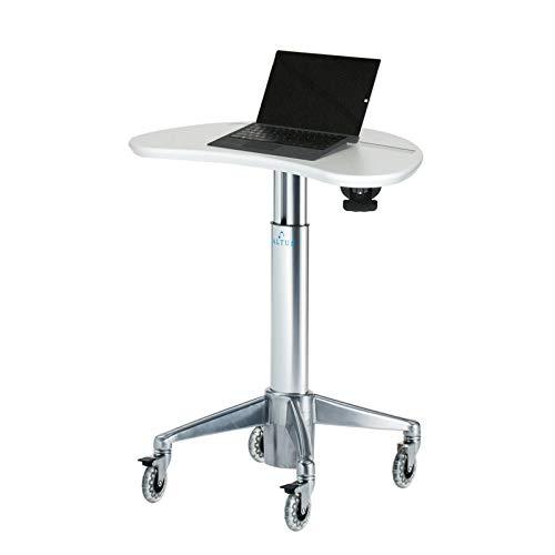 Altus Non-Powered Laptop Cart, MPC-33P Magnetic Kidney Laptop Cart, American Natural Maple