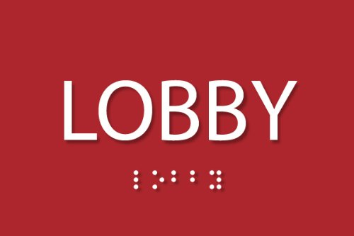 """Lobby Sign - ADA compliant sign. 6""""x4"""" sign made from dur..."""