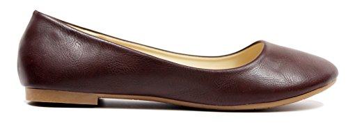 Max Collection May Mujer Ballet Zapatos Planos Todos Los Colores Pu-marrón