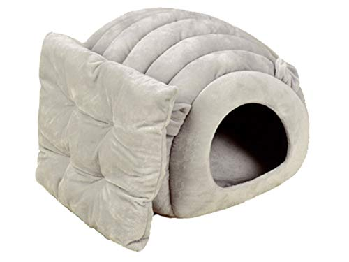 Beskie Pet Tent Cave Bed for Small Medium Large Dogs Cats Pets Puppy Removable Cushion Sleeping Bag Warm Soft Dog Bed Cozy Grotto Cavern Cuddler Burrow House Hole Igloo Nest for Cat
