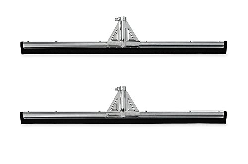 Rubbermaid Commercial Heavy-Duty Floor Dual Moss Squeegee, 30-Inch Length x 3.25-Inch Width x 5.5-Inch Height, Black (FG9C2900BLA) (2 PACK)