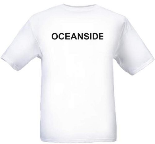 OCEANSIDE - City-series - White T-shirt - size (Party City Oceanside)