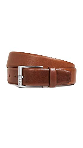 BOSS Hugo Boss Men's Erron Smooth Leather Belt, Medium Brown, 32