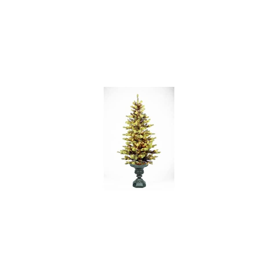 National Tree Company DM3 304 50 5 Foot Douglas Mountain Fir Entrance Tree with 150 Clear Lights in Bronze Plastic Pot