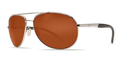 Costa Del Mar Wingman Sunglasses, Palladium Silver, Copper 580P ()