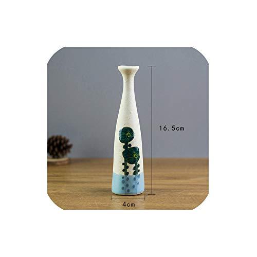 April With You Europe Brief Mat Diamond Porcelain Vase Modern Fashion Ceramic Vase Study Room Hall Home Wedding Decoration,Zwart (China Hall Blue Bouquet)