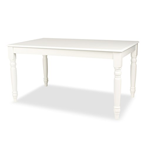Kate and Laurel Turin Wood Dining Table with Farmhouse Legs – Easy-Build Work (Four Leg Dining Table)
