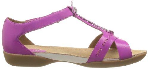 Clarks Raffi Magic 203580544 - Sandalias de cuero para mujer, color morado, talla 35.5 Morado (Violett (Pink Leather))