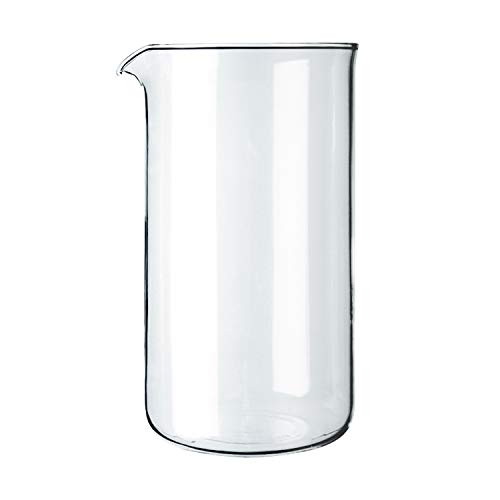 Bodum 1508-10 French Press Replacement 8 Cup Glass Beaker, Transparent , 1 L, ø 9.6 cm