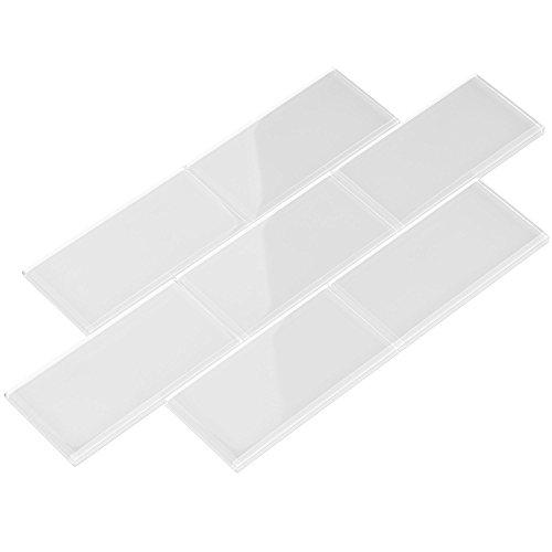 Giorbello  G5910-44 Glass Subway Backsplash Tile, 3 x 6, Bright White