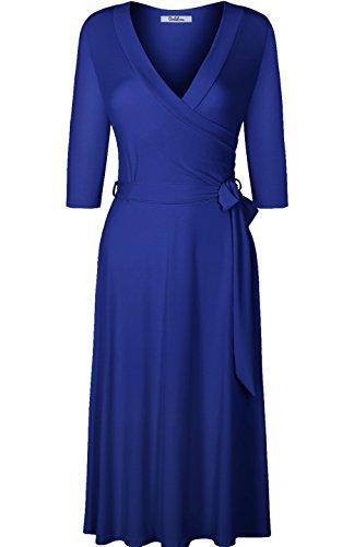 Royal Blue Wrap Dress: Amazon.com
