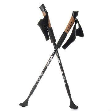 Bumatech Opposing Stun Lambast - Pair Walking Stick Trekking Pole Adjustable Aluminum Alpenstock Shock Cane - Electrical Seismic Disturbance Ball Counteractive Blow Lambaste Electric Water ()