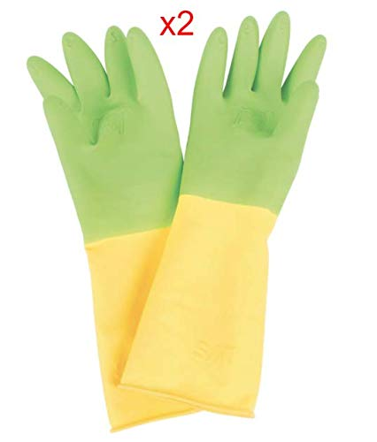(2 Pairs of Child Latex Rubber Re-usable Gloves - Great Value and Quality ! for Ages 3-5 Years (Average Sized Child))