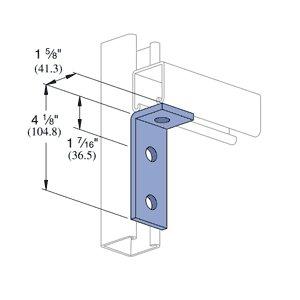 Genuine Unistrut P1326-EG 3 Hole Flush 90 Degree Angle