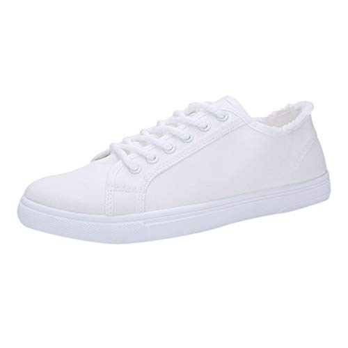 Men's Canvas Shoes Lace up Sneakers Student Canvas Shoes Men's White Shoes Sports Shoes Teenager Shoes