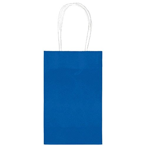 Party Friendly Solid Color Cub and Treat Bags Bundle , Royal Blue, Paper , 8
