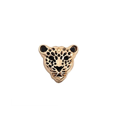 MISSU JEWELLRY Hollow Cheetah Head Collar Brooch Leopard Suit Lapel Pin for Mens ()