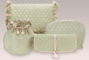 Green Silk Gift Set by Zazendi